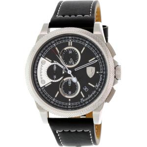 Ferrari Men's Formula Italia S 0830275 Black Leather Swiss Quartz Watch