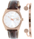 Fossil Women's Perfect Boyfriend ES3770SET Brown Leather Quartz Watch - Main Image Swatch