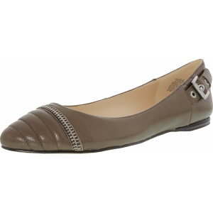 Nine West Women's Savory Leather Ankle-High Leather Ballet Flat