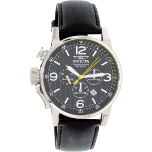 Invicta Men's I-Force 20129 Black Leather Quartz Watch