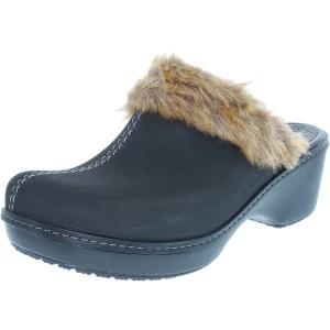 Crocs Women's Cobbler Fuzz Ankle-High Synthetic Flat Shoe