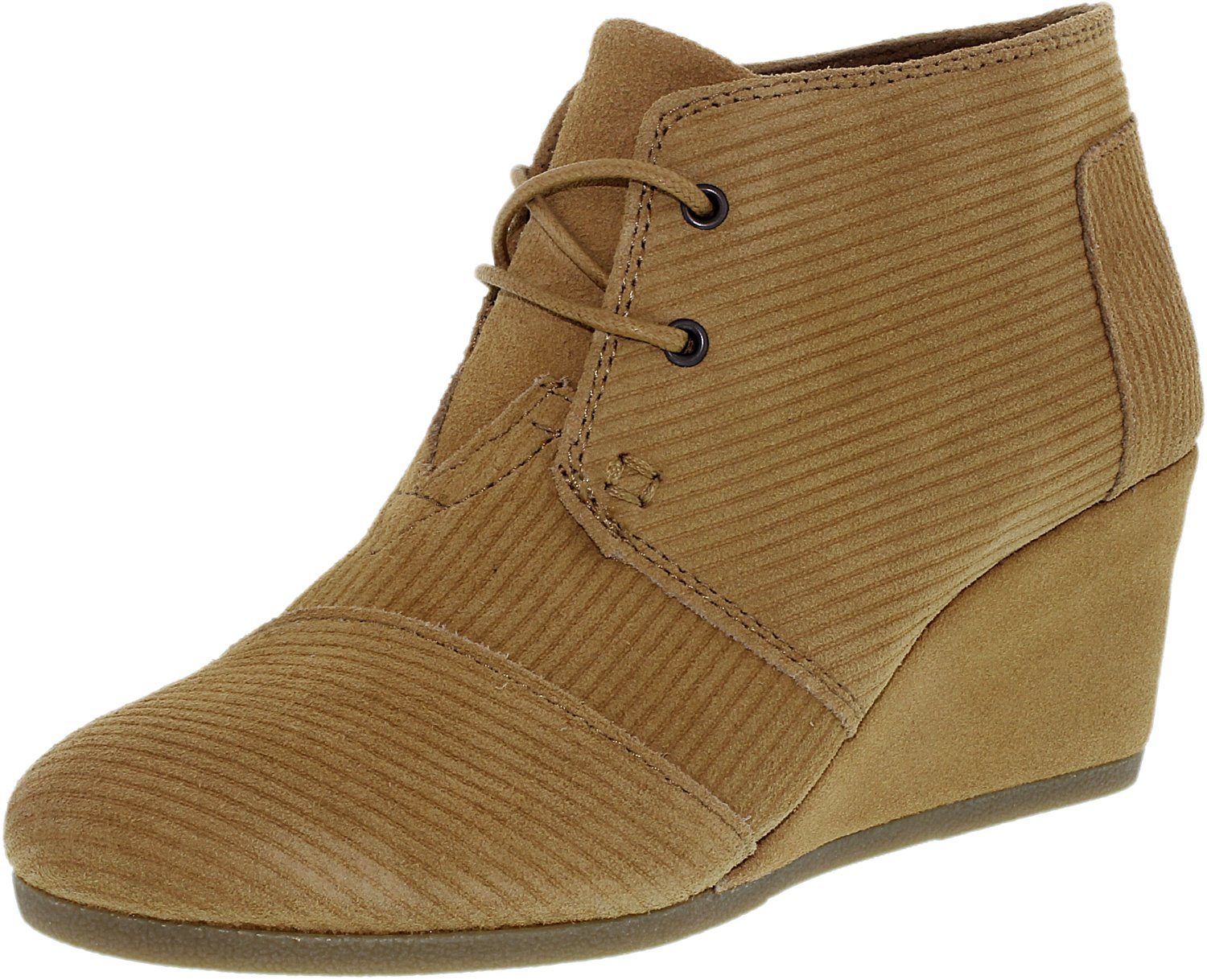 toms s desert wedge corduroy suede ankle high