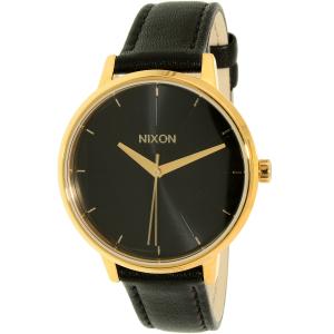 Nixon Women's Kensington A108513 Black Leather Quartz Watch