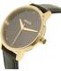 Nixon Women's Kensington A108513 Black Leather Quartz Watch - Side Image Swatch
