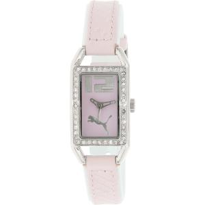 Puma Women's Sportlifestyle PU100172001 Pink Leather Analog Quartz Watch