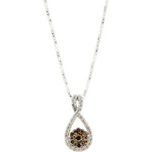 Exotic Identity Women's Chic Diamond Pendant Necklace