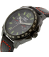 Invicta Men's Specialty 0857 Black Leather Swiss Quartz Watch - Side Image Swatch