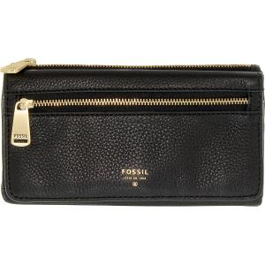 Fossil Women's Preston Flap Clutch Leather Wallet Baguette