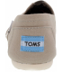 Toms Women's Classic Canvas Ankle-High Canvas Flat Shoe - Back Image Swatch