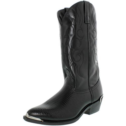 Laredo Mens Atlanta Synthetic Black Lizard Print Foot Mid-Calf Synthetic Boot - 10.5D