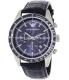 Emporio Armani Men's Tazio AR6089 Blue Leather Quartz Watch - Main Image Swatch