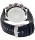 Emporio Armani Men's Tazio AR6089 Blue Leather Quartz Watch - Back Image Swatch