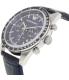 Emporio Armani Men's Tazio AR6089 Blue Leather Quartz Watch - Side Image Swatch