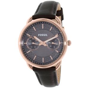 Fossil Women's Tailor ES3913 Grey Leather Quartz Watch