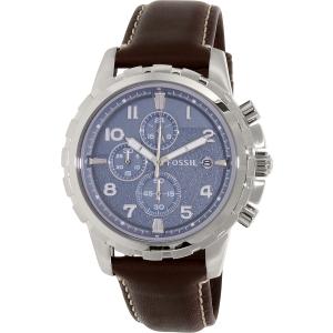 Fossil Men's Dean FS5022 Brown Leather Quartz Watch