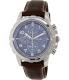 Fossil Men's Dean FS5022 Brown Leather Quartz Watch - Main Image Swatch