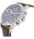 Fossil Men's Dean FS5022 Brown Leather Quartz Watch - Side Image Swatch
