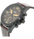 Fossil Men's Nate JR1502 Red Leather Quartz Watch - Side Image Swatch