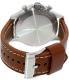 Fossil Men's Nate JR1503 Brown Leather Quartz Watch - Back Image Swatch