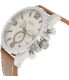 Fossil Men's Nate JR1503 Brown Leather Quartz Watch - Side Image Swatch