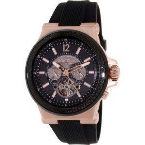 Michael Kors Men's Dylan MK9019 Black Silicone Automatic Watch