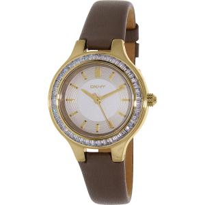 Dkny Women's Chambers NY2432 Grey Leather Quartz Watch