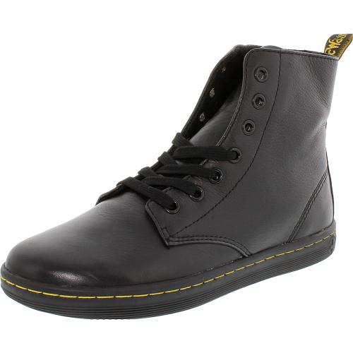 leyton black anklehigh leather boot