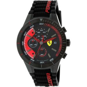 Ferrari Men's Redrev 0830260 Black Silicone Quartz Watch