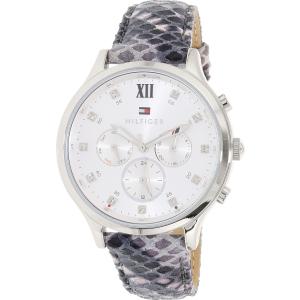 Tommy Hilfiger Women's 1781615 Silver Leather Quartz Watch