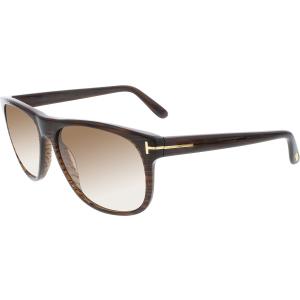 Tom Ford Men's Olivier FT0236-50P-58 Brown Round Sunglasses