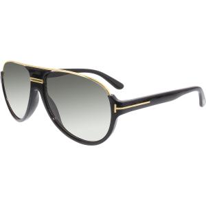 Tom Ford Men's Gradient Dimitry FT0334-01P-59 Black Semi-Rimless Sunglasses