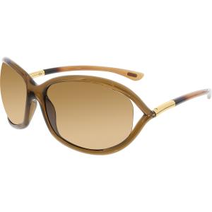 Tom Ford Women's Polarized Jennifer FT0008-48H-61 Brown Oval Sunglasses