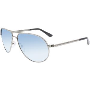Tom Ford Men's Mirrored Marko FT0144-14X-58 Silver Aviator Sunglasses