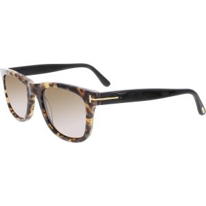 Tom Ford Women's Leo FT0336-55J-52 Tortoiseshell Square Sunglasses