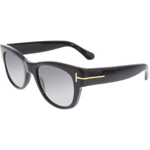 Tom Ford Men's Polarized Cary FT0058-01D-52 Black Square Sunglasses