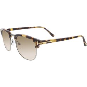 Tom Ford Men's Henry FT0248-55J-51 Tortoiseshell Semi-Rimless Sunglasses