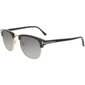 Tom Ford Men's Henry FT0248-05N-51 Black Semi-Rimless Sunglasses