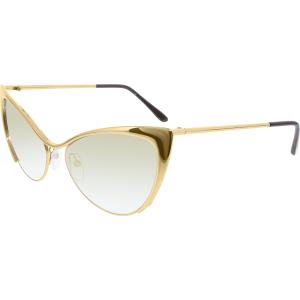Tom Ford Women's Mirrored Nastasya FT0304-28G-56 Gold Cat Eye Sunglasses