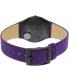 Swatch Women's Skin SFB144 Purple Leather Quartz Watch - Back Image Swatch