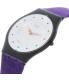 Swatch Women's Skin SFB144 Purple Leather Quartz Watch - Side Image Swatch