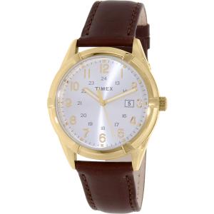 Timex Men's Easton TW2P76600 Brown Leather Quartz Watch