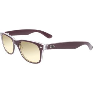 Ray-Ban Men's Gradient New Wayfarer RB2132-6054/M2-55 Berry Square Sunglasses
