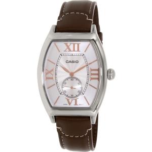 Casio Men's MTPE114L-5A Brown Leather Quartz Watch