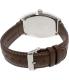 Casio Men's MTPE114L-5A Brown Leather Quartz Watch - Back Image Swatch