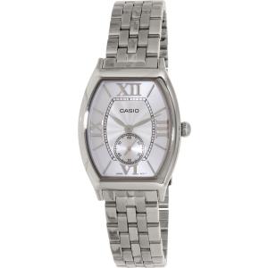 Casio Women's LTPE114D-7A Silver Stainless-Steel Quartz Watch
