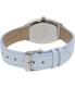 Casio Women's LTPE114L-2A Light Blue Leather Quartz Watch - Back Image Swatch