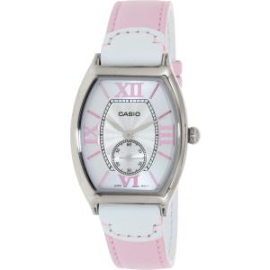 Casio Women's LTPE114L-4A1 Pink Leather Quartz Watch