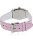 Casio Women's LTPE114L-4A1 Pink Leather Quartz Watch - Back Image Swatch