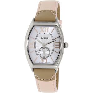 Casio Women's LTPE114L-4A2 Pink Leather Quartz Watch
