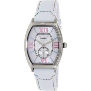 Casio Women's LTPE114L-7A White Leather Quartz Watch